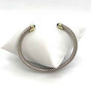 David Yurman 5mm Cable Bracelet with Blue Topaz
